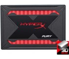 """2.5"""" SSD 960GB Kingston HyperX FURY RGB, SATAIII, Sequential Reads 550 MB/s, Sequential Writes 480 MB/s, 9.5mm, Controller Marvell 88SS1074, 3D NAND TLC, RGB lighting with dynamic, Includes RGB cable"""
