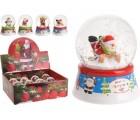 Сувенир Шар со снегом Дед Мороз/олень/Снеговик на санях 6.2c