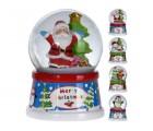 Сувенир Шар со снегом Дед Мороз/олень/Снеговик с елкой D6.5