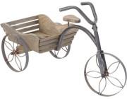 Велосипед деревянный декорат с ящиком для цветов, 68X30