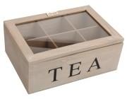 Коробка для чая 6 ячеек, 23X16X9cm, дерево