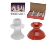 Подсвечник керамический 4.5X6сm, красный/белый