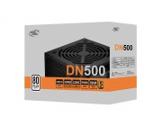 Power Supply ATX 500W Deepcool DN500 New Version, 80PLUS, Active PFC, 120 mm silent fan