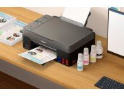 MFD Canon Pixma G2460 MFD A4,  Print, Copy, Scan Print Resolution: Up to 4800 x 1200 dpi Print Technology: 2 FINE Print Head (Black and Colour), Refillable ink tank printer Mono Print Speed: approx. 10.8 ipm Colour Print Speed: approx. 6.0 ipm Photo
