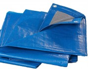 Тент защитн. тарпаулин.  60г/м2 BLUE  8*12м (синий)