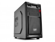 """DEEPCOOL """"SMARTER"""" Micro-ATX Case,  without PSU, fully black painted interior, VGA Compatibility: 320mm, CPU Cooler Compatibility: 165mm, 1x 2.5"""" Drive Bays, 1xUSB3.0, 1xUSB2.0 /Audio, Black"""