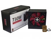 "PSU XILENCE XP730R8, 730W, ""Performance A+"" Series, ATX 2.4, 80 PLUS® Bronze, Active PFC, 120mm fan,+12V (61A), 20+4 Pin, 6x SATA, 4x PCI-E 6+2pin, 4x Peripheral, ErP2014 norm, Black"