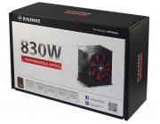 "PSU XILENCE XP830R8, 830W, ""Performance A+"" Series, ATX 2.4, 80 PLUS® Bronze, Active PFC, 120mm fan,+12V (69A), 20+4 Pin, 6x SATA, 4x PCI-E 6+2pin, 4x Peripheral, ErP2014 norm, Black"