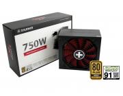 "PSU XILENCE XP750MR9, 750W, ""Performance X"" Series / Modular, ATX 2.4, 80 PLUS® Gold, Active PFC, 135mm fan,+12V (62.5A), 20+4 Pin, 8x SATA, 4x PCI-E 6+2pin, 4x Peripheral, ErP2014 norm, EcoPSU certified, Black"