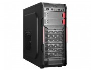 HPC B-09  ATX Case, (500W, 24 pin, 2xSATA, 12cm fan), 1xUSB3.0, 2xUSB2.0 / HD Audio, Black + Red decoration