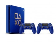 Game Console  Sony PlayStation 4 500GB Limited Edition Days of Play Console Bundle, Blue, 2 x Gamepad (Dualshock 4)