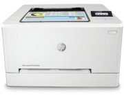 HP Color LaserJet Pro M254nw Printer, Up to 21ppm, 600x600 dpi, Up to 40000 p., 128MB RAM, 2-line LCD display,  PCL 5c/6, Postscript 3, USB 2.0, Ethernet 10/100Base-TX, Wi-Fi 802.11 b/g/n, HP ePrint, Apple AirPrint™, White