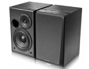 "Edifier R1100  Black, 2.0/ 42W (2x21W) RMS,  Audio in: two analog (RCA), wooden, (4""+1/2"")"
