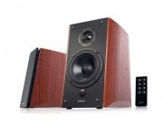 "Edifier R2000DB Brown, 2.0/ 120W (2x36W+2x24W) RMS, Audio In: Bluetooth, RCA x2, PC, AUX, optical, coaxial, remote control, all wooden, (5""+1"")"