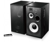 "Edifier R2800 (Studio 8)  Black, 2.0/ 140W (2x70W) RMS, Three-amping, Hi-Fi, Audio in: two digital (Optical, Coaxial) & two analog (RCA), remote control, wooden, (8""+4""+3/4"")"