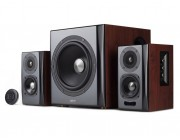 "Edifier S350DB  Brown, 2.1/ 150W (70W+ 2x40W) RMS, Audio In: Bluetooth 4.1 aptX Wireless Sound, RCA x2, PC, AUX, optical, coaxial, remote control, all wooden, (sub.8"" + satl.(3,5""+1""))"