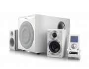"Edifier S530D  White, 2.1/ 145W (75W+ 2x35W) RMS, Audio in: two digital (Optical, Coaxial) & two analog (RCA), Wired control with LCD display + Remote control, Headphone output, all wooden, (sub.8"" + satl.(3.5""+1""))"