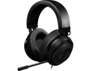 RAZER Kraken Pro V2 Oval (Black) /  Analog Gaming Headset, Passive Noise-cancelling retractable Microphone, Oval Ear Cushions, in-line Remote, Cross-platform compatibility (Mobile/PC/Xbox/PS4), 1.3+2 m detachable cables, 3.5 mm combined jack