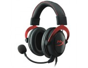 KINGSTON HyperX Cloud Alpha Headset, Red, Solid aluminium build, Microphone: detachable, Frequency response: 13Hz–27,000 Hz, Detachable headset cable length:1m+2m extension, Dual Chamber Drivers, 3.5 jack, Pure Hi-Fi capable, Braided cable