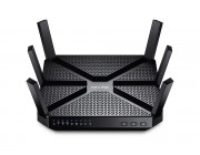 TP-LINK  Archer C3200   AC3200 Tri-Band Wireless Gigabit Router, Atheros, 3T3R, 1300Mbps at 5Ghz Band1 + 1300Mbps at 5Ghz Band2 + 600Mbps at 2.4Ghz, 802.11ac/a/b/g/n, 1 Gigabit WAN + 4 Gigabit LAN, 1xUSB 3.0 + 1xUSB 2.0, 6 fixed antennas