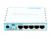 MikroTik RouterBOARD hEX ,  Wired Router, 5 Gigabit LAN ports, CPU QCA9556 880 MHz, RAM 256MB, USB, Support PoE in, Voltage Monitor, PCB temperature monitor, RouterOS