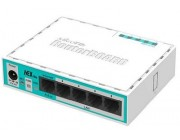 MikroTik RouterBOARD hEX lite,  Wired Router, 5 LAN ports, CPU QCA9531 850 MHz, RAM 64MB, Switch chip model QCA9531, Support PoE in, RouterOS