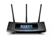 TP-LINK  Touch P5   AC1900 Dual Band Wireless Gigabit Router, 1300Mbps at 5Ghz + 600Mbps at 2.4Ghz, 802.11ac/a/b/g/n, 1 Gigabit WAN + 4 Gigabit LAN, Wireless On/Off and WPS button, 1xUSB 3.0+1xUSB2.0, 3 detachable antennas, Touch Panel