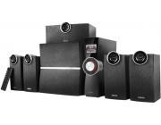 "Edifier C6XD Black, 5.1/ 80W (38W+10W+4x8W) RMS, with External Amplifier, FM Radio, USB & SD card input (MP3/WMA), LED display, Audio in: Optical & 3 analog (5.1, AUX, PC), remote control, all wooden, (sub.6,5"" + satl.(3""+3/4""))"