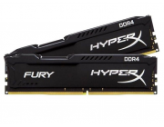 16GB (Kit of 2*8GB) DDR4-2400  Kingston HyperX® FURY DDR4, PC19200, CL15, 1.2V, Auto-overclocking, Asymmetric BLACK heat spreader, Intel XMP Ready  (Extreme Memory Profiles)
