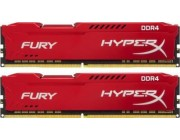 16GB (Kit of 2*8GB) DDR4-2666  Kingston HyperX® FURY DDR4, PC21300, CL16, 1.2V, Auto-overclocking, Asymmetric RED heat spreader, Intel XMP Ready  (Extreme Memory Profiles)