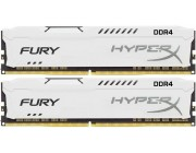 16GB (Kit of 2*8GB) DDR4-2666  Kingston HyperX® FURY DDR4, PC21300, CL16, 1.2V, Auto-overclocking, Asymmetric WHITE heat spreader, Intel XMP Ready  (Extreme Memory Profiles)