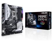 ASUS PRIME Z370-A, Socket 1151, Intel® Z370 (8th Gen CPU), Dual 4xDDR4-4000, 3xPCIe X16, CPU Intel graphics, HDMI, DVI, DP, 6xSATA3, RAID, 2xM.2 slot, S1220A HDA, GbE LAN, 2xUSB3.1 Gen 2 (Type-C & Type-A), 6xUSB3.1, Aura Sync RGB LED, ATX