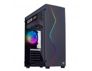 HPC P-03 ATX Case, (650W, 24 pin, 1x 8pin(4+4), 2x 8pin(6+2) 2x IDE, 4x SATA, 12cm fan), Acrylic left side panel, 1xUSB3.0, 2xUSB2.0 / HD Audio, Black