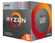 AMD Ryzen 5 3400G, Socket AM4, 3.7-4.2GHz (4C/8T), 4MB L3, Integrated Radeon RX Vega 11 Graphics, 12nm 65W, Box (with Wraith Spire Cooler)
