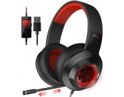 Edifier G4 Black-Red / Gaming On-ear headphones with microphone, 7.1 , Vibration for a more immersive experience, Built-in retractable microphone, RGB light, Noise isolating, Dynamic driver 40 mm, Frequency response 20 Hz-20 kHz, USB