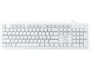 Gembird KB-MCH-03-W-RU Chocolate Multimedia, Slimline keyboard with chocolate type keys, USB, White