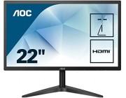 21.5 inch AOC LED 22B1H Black (5ms, 20M:1, 250cd, 1920x1080, 170°/160°, VGA, HDMI, Audio Line-out)