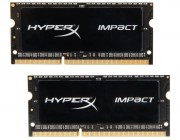 16GB (Kit of 2*8GB) DDR3L-1600 SODIMM  Kingston HyperX® Impact, (Dual Channel Kit), PC12800, CL9, 2Rx8, 1.35V / 1.5V