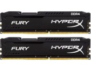 16GB (Kit of 2*8GB) DDR4-3000  Kingston HyperX® FURY DDR4, PC24000, CL15, 1.35V, Auto-overclocking, Asymmetric BLACK heat spreader, Intel XMP Ready (Extreme Memory Profiles)