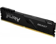 16GB (Kit of 2*8GB) DDR4-3000 Kingston HyperX® FURY DDR4, PC24000, CL15, 1.2V, Auto-overclocking, Asymmetric BLACK heat spreader, Intel XMP Ready (Extreme Memory Profiles)