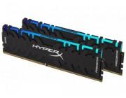 16GB (Kit of 2*8GB) DDR4-3600 Kingston HyperX® Predator DDR4 RGB, PC28800, CL17, 1.35V, BLACK heat spreader, Dynamic RGB effects featuring HyperX Infrared Sync technology, Intel XMP Ready (Extreme Memory Profiles)