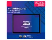 2.5 inch SSD 128GB  GOODRAM CX400, SATAIII, Sequential Reads: 550 MB/s, Sequential Writes: 450 MB/s, Maximum Random 4k: Read: 65,000 IOPS / Write: 82,500 IOPS, Thickness- 7mm, Controller Phison PS3111-S11, 3D NAND TLC