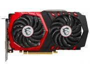MSI GeForce GTX 1050 Ti GAMING X 4G / 4GB GDDR5 128Bit 1493/7108Mhz (OC Mode), DVI, HDMI, DisplayPort, Dual fan - TWIN FROZR VI (Zero Frozr/Airflow Control Technology), TORX 2.0 FAN, Gaming App