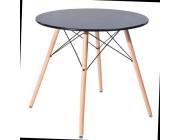 Столы // Eames masa DT-03-Black-diam 90cm