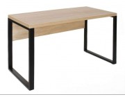 Офисная мебель // B-130-(130 x 68cm) Sonoma+cadru negru