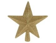 "Верхушка елочная ""звезда"" 19сm, золотая"