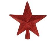 """Верхушка елочная """"звезда"""" 19сm, красная"""