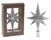 "Верхушка елочная звезда 8-ми конечная 25cm ""серебро"""