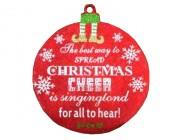 """Украшение подвесное D30cm """"Шар"""" с надписью """"Merry Christmas"""""""