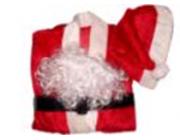 Костюм Деда Мороза 5ед(шапка,борода,ремень,штаны,жакет)